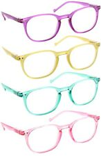 Reading Glasses Readers Women Clear Lens Translucent Colorful Spring Hinge