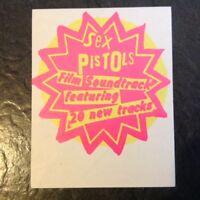 Sex Pistols GRNRS Original 1979 Unused Promo Album Sticker Punk Sid Vicious PIL