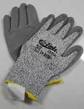 G-Tek PIP D150 Glove Gray Dyneema Coated Urethane Palm Size Large One Pair
