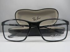 Ray-Ban RB 7036 5206 Shiny Black LITEFORCE New Authentic Eyeglasses 55mm w/Case