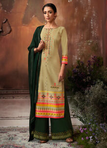 Indian Pakistani Women Readymade Designer Muslin Diamond Work Salwar Kameez Suit