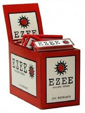 Ezee RED Rolling Paper Cigarette Standard Size Cut Corner 100 Booklets Box New