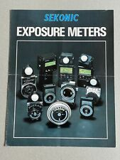Sekonic Exposure Meters, A4 Paper Brochure, 3 Page Fold Out, 1980's