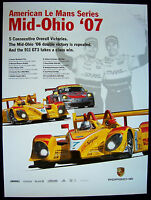 PORSCHE RS SPYDER AMERICAN LE MANS SERIES ALMS MID-OHIO RACECAR POSTER 2007