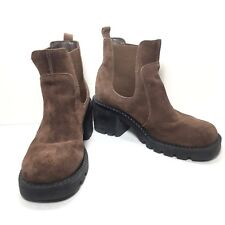 Women's Colin Stuart Brown Leather Grunge Ankle Boots Booties Size 5 M