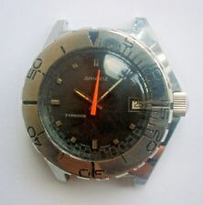 60s Sandoz Typhoon 1000m Monobloc Case Deep Sea Men Divers Watch