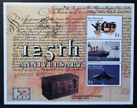 ST. VINCENT 125TH ANNIVERSARY OF THE UPU STAMPS SHEET 3V 1999 MNH CONCORDE SHIP