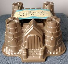 "Nordic Ware for Williams-Sonoma ~ SANDCASTLE BUNDT PAN ~ 9"" Square x 4¾"" High"