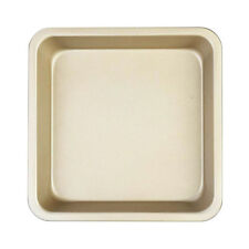 Nonstick Square Bakeware Kitchen Baking Toast Pan Carbon Steel 8inch Gold