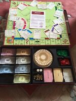 MONOPOLY DELUXE - VINTAGE BOARD GAME 1972 - (GOLD GILDED TOKENS) - WADDINGTONS