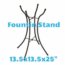 """Fountain Stand - Large Size:Glass/Iron 13.5""""X13.5""""X25"""" Regal Art & Gift 30015"""