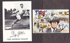2 1992 Ty Cobb Detroit Tigers UNSIGNED  Royston Dev. Photo Postcard + Print Card