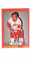 1973 Topps  Alex Delvecchio Detroit Red Wings Hockey Card #141