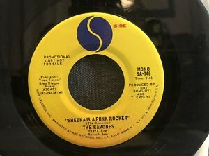 "Ramones - Sheena Is A Punk Rocker -PROMO 7"" 45 RPM Vinyl Sire S-746"
