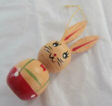 Vintage Wooden Rabbit Christmas Tree Decoration