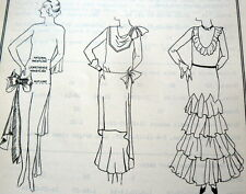 RARE VTG 1930s SEWING BOOK PATTERN DRAFTING WHITE SCHOOL COSTUME ART EXTENSION