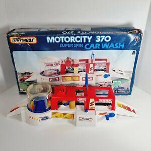 MATCHBOX Vintage 1988 Motorcity 370 Super Spin Car Wash Fully Working Water Pump