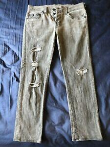 Men's Jean, True Religion Rocco, Gray, Size 31/26.5, Excellent Condition