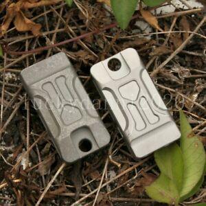 Titanium TC4 Ti Whistle EDC Twin Tubes SOS High Frequency Outdoor Survival Tool