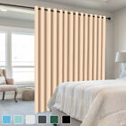 1 2 Pcs Grommet Room Divider Curtain Privacy Blackout Panels Thermal Insulated