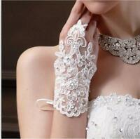 Bride wedding gloves lace short paragraph exposed fingers wedding accessories