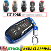 4/5 Button Remote Key Fob Cover TPU Case For Ford F150 Mustang For Lincoln Mkz