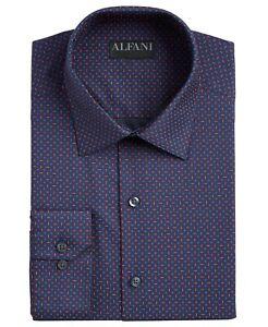 Alfani Mens Dress Shirt Blue Size Medium M 15-15 1/2 Regular Fit $60 #535