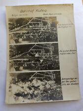 Original großes Luftbild Angriff auf den Bahnhof von Kutno am 6. September 1939