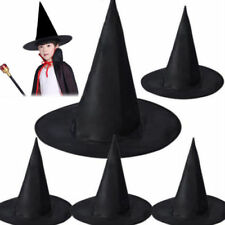 Adult/Kids Black Witch Hat Halloween Party Festival Costume Cap Accessory
