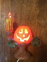 Hallowscream Vintage Halloween Pumpkin Light-up Candelabra Mint In Box Rare 1997
