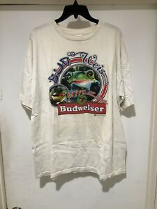 Vintage 1995 Budweiser Frogs T Shirt XL Bud Light Anheuser Busch Bud Ice Beer