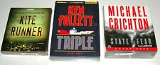 LOT ~ (3) **NEW** Audio Book CD Sets ~ KITE RUNNER • TRIPLE • STATE OF FEAR