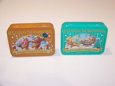 CELESTIAL SEASONINGS GINGERBREAD SPICE SUGAR COOKIE SLEIGH RIDE COLLECTIBLE TINS