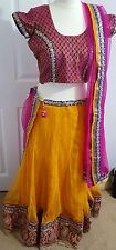 Lehenga, choli, chaniya choli, indian wedding dress, Asian. Size 34