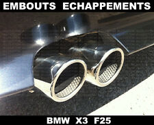 BMW X3 F25 2010 -2015 CHROME EXHAUST TIPS TAIL PIPE MUFFLER 71mm M sDRIVE xDRIVE