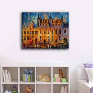 50×65×3cm Colorful Night Castle Canvas Prints Framed Wall Art Home Decor Gift