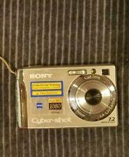 Sony Cyber-shot DSC-W80 7.2MP Digital Camera - Silver NOT TESTED