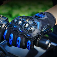 Men's Touch Screen Motorcycle Full Finger Gloves with Hard Knuckle Protection