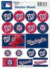 Washington Nationals ~ Lot of (17) Stickers ~ 5x7 Inch Sheet