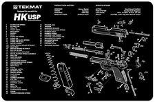 HECKLER & KOCH HK USP 9MM PISTOL GUN CLEANING GUNSMITH BENCH LAP TOP MAT TEKMAT