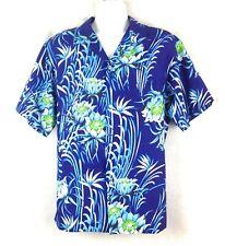 dbeddf3f Arakawas Hawaiian Shirt Mens XL Palaka Waipahu Blue Green Floral Camp