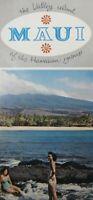 Vintage Hawaii Travel Brochure Maui Map The Valley Island Lahaina Hana 1950s