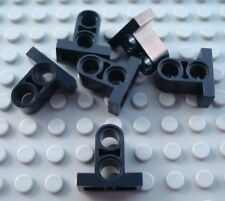 LEGO Lot of 6 Black 1x2x2 2/3 Technic Connector Pieces