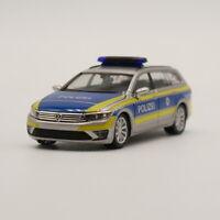 "Ho scale model Herpa 1:87 VW Passat Variant GTE ""Polizei Hessen"" Model Car"