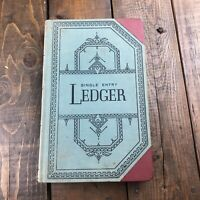 Antique Single Entry Ledger No. 500 Blank S.E. & M Vernon Inc. Unused Beautiful