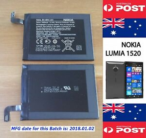 NOKIA LUMIA 1520 Original Battery BV-4BW 3500mAh Good Quality - Local Seller !