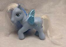My Little Pony G3 Hasbro Silver Glow Blue/White Pegasus, Glitter & Tinsel