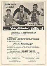 W7747 Apparecchio fotografico VOIGTLANDER Brillant - Pubblicità del 1932 - Ad