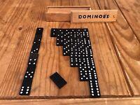 Vintage Bakelit Domino Game - Complete Set of 28 Tiles