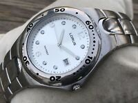 Lorus Men Watch Date Calendar Silver Tone Japan Movement Analog Water Resistant